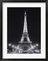 Framed Eiffel Tower at Night