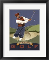 Vintage Golf - Bunker Framed Print