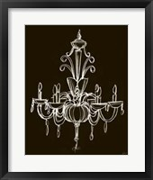 Elegant Chandelier II Framed Print