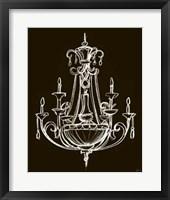 Elegant Chandelier III Framed Print