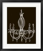 Elegant Chandelier IV Framed Print