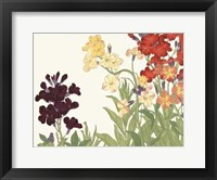 Framed Japanese Flower Garden I