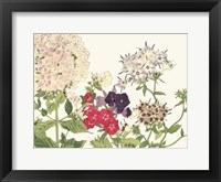 Framed Japanese Flower Garden II