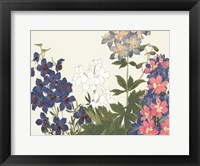 Framed Japanese Flower Garden III