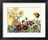 Framed Japanese Flower Garden V