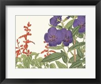 Framed Japanese Flower Garden VI
