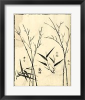 Framed Bamboo Woodblock II