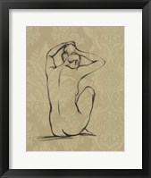 Sophisticated Nude I Framed Print