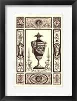 Framed Sepia Pergolesi Urn II