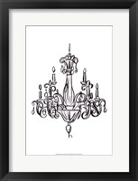 Graphic Chandelier I Framed Print