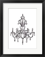 Graphic Chandelier II Framed Print