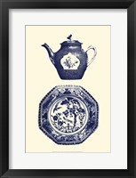 Framed Manor Porcelain In Blue I
