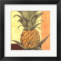 Framed Golden Pineapple I