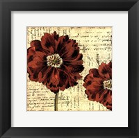 Printed Vintage Composition II Framed Print