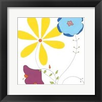 Playful Blooms III Framed Print