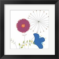 Playful Blooms IV Framed Print
