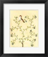 Framed Berry Bird I