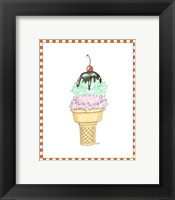 Framed Ice Cream Parlor I