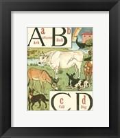 Framed Noah's Alphabet I