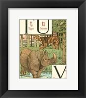Framed Noah's Alphabet VI