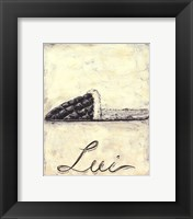 Lui- French Cozy Slipper Framed Print