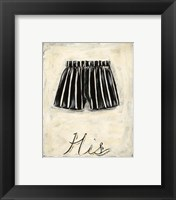 His- French Silk Framed Print