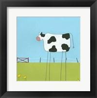 Stick-Leg Cow II Framed Print