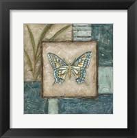 Framed Large Butterfly Montage I