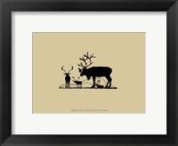 Elk Silhouette II Framed Print