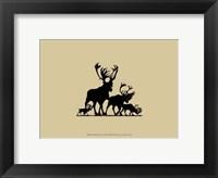Elk Silhouette III Framed Print