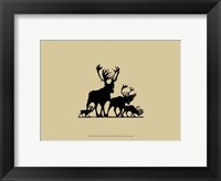 Framed Elk Silhouette III