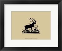 Framed Elk Silhouette V