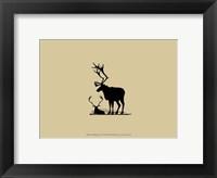 Elk Silhouette VI Framed Print