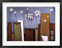 Framed Cityscape Floral I