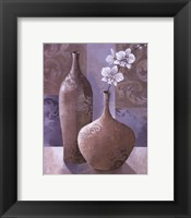 Silver Orchids I Framed Print