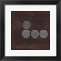 Framed Aqua Lily Pads II
