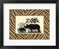 Framed Serengeti Silhouette II