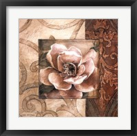 Linen Roses II Framed Print