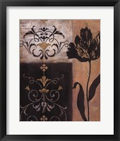 Framed Tulip Silhouette - black flower