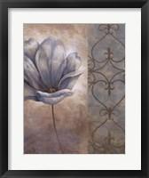 Fleur Bleue II Framed Print