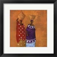 Colorful Dresses Framed Print