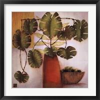 Olive Bowl And Vase Framed Print