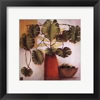 Framed Olive Bowl And Vase