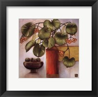 Passion Fruit And Vase Framed Print