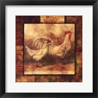 Framed Hen And Rooster I