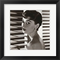 Framed Audrey Hepburn – Blinds