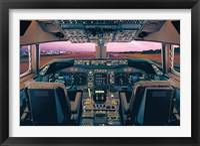 Framed Boeing 747-400 Flight Deck