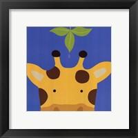 Peek-A-Boo Giraffe Framed Print