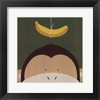 Peek-A-Boo Monkey Framed Print