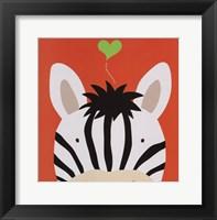 Peek-A-Boo Zebra Framed Print